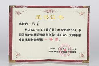 中国国际时装周彩妆造型北京分赛区设计大赛一等奖