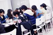 成都化妆学校奢妃学子手绘美人图柔美线条 细腻色彩