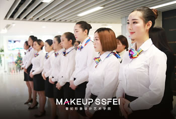 奢妃化妆学校1113班级职业装阶段考试