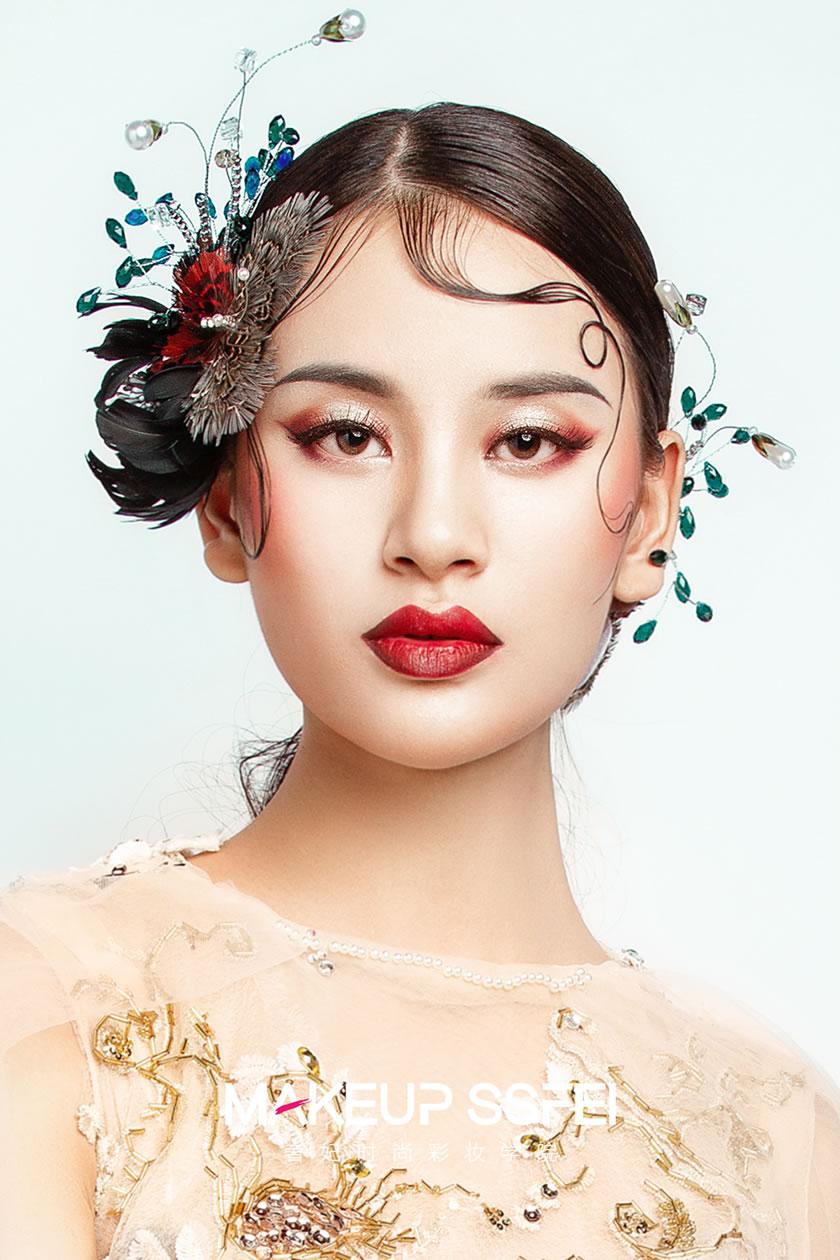 奢妃化妆造型欧美复古妆容