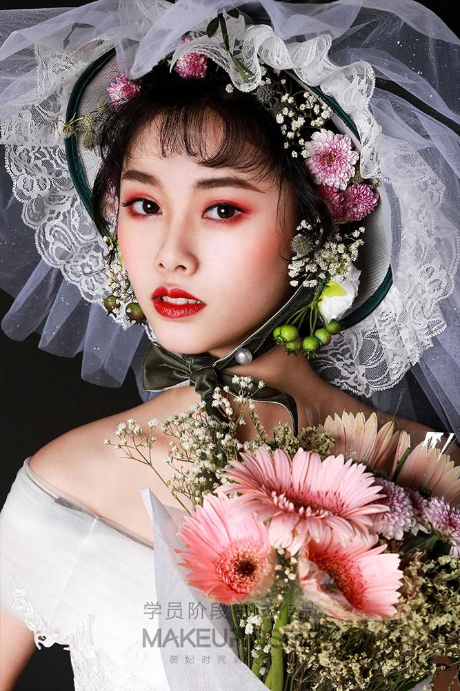 奢妃化妆学校新娘造型作品