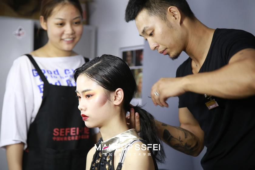 成都化妆学校化妆班日常
