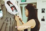 成都化妆学校毕业发布会服装制作花絮,奢妃化妆造型培训