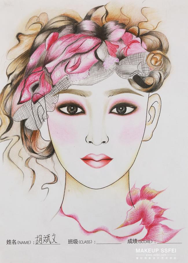 成都奢妃化妆学校化妆班作品 化妆师or画家?