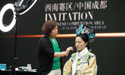 成都化妆造型十佳大赛09月18日名师课程明星影视妆容现场