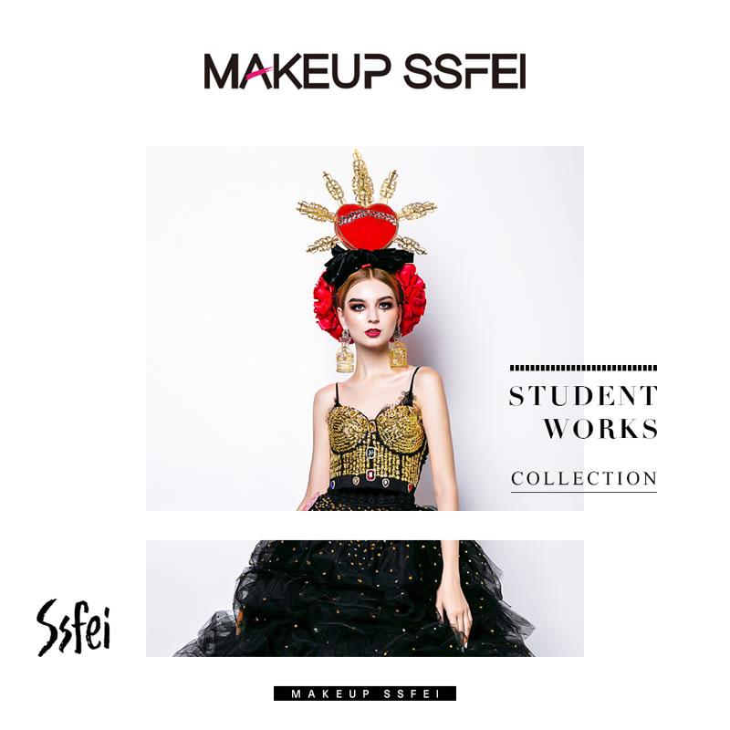 奢妃化妆培训学校学习五个月化妆课程学员作品